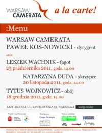 Ułóż program koncertu, czyli Warsaw Camerata à la carte!