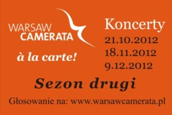 "Finałowy koncert cyklu ""Warsaw Camerata à la carte!"""