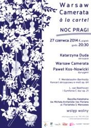 Warsaw Camerata à la carte! podczas Nocy Pragi