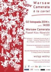 Warsaw Camerata à la carte! Muzyczna Rezydencja 2014-2016