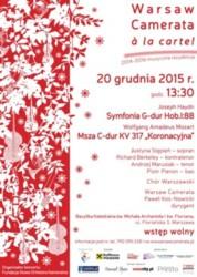 Warsaw Camerata a la carte!