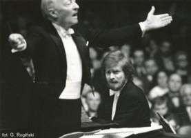 Witold Lutosławski i Krytian Zimerman - Warszawska Jesień 1988, fot. Grzegorz Rogiński