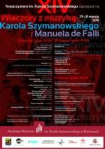 Wieczory z muzyką Karola Szymanowskiego i Manueal de Falli