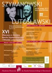 Wieczory z muzyką Karola Szymanowskiego i Witolda Lutosławskiego 2013