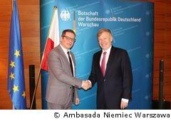 Tadeusz Wielecki i ambasador Rolf Nikel