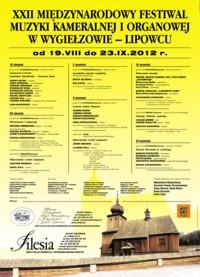 22. Międzynarodowy Festiwal Muzyki Kameralnej i Organowej w Wygiełzowie-Lipowcu
