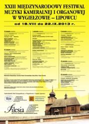 XXIII Międzynarodowy Festiwal Muzyki Kameralnej i Organowej w Wygiełzowie-Lipowcu