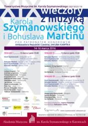 XIX wieczory z muzyką Karola Szymanowskiego i Bohuslava Martinu