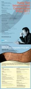 Isang Yun Prize 2011